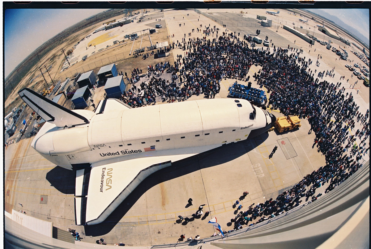 Endeavour's Roll Out from Above