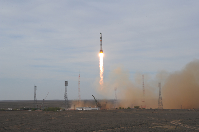 Russian Cargo Ship En Route to Space Station