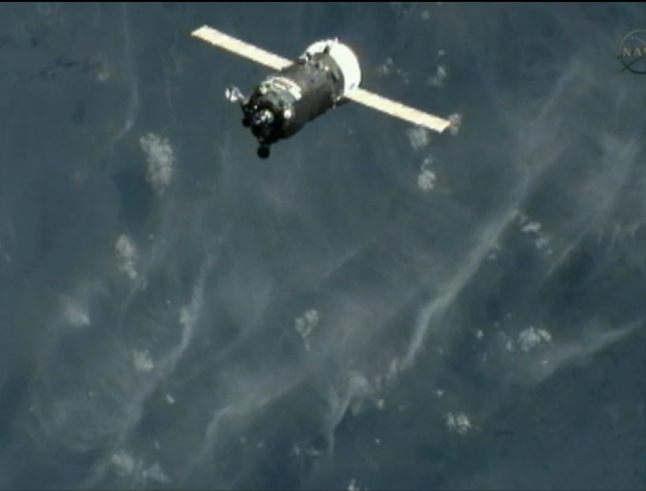 Russian Cargo Ship Docks at Space Station Ahead of Shuttle Launch