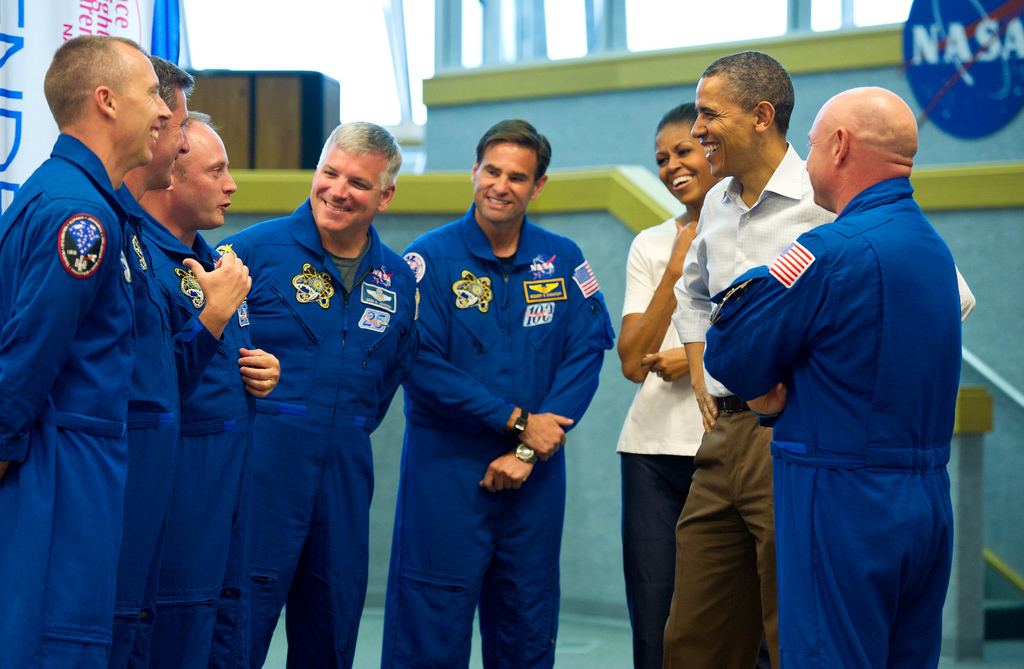 The Obamas Meet the STS-134 Astronauts