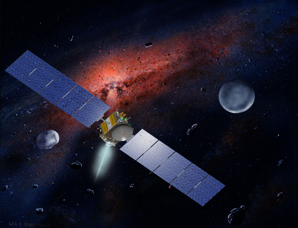 NASA Probe Set to Orbit Huge Asteroid Vesta Tonight