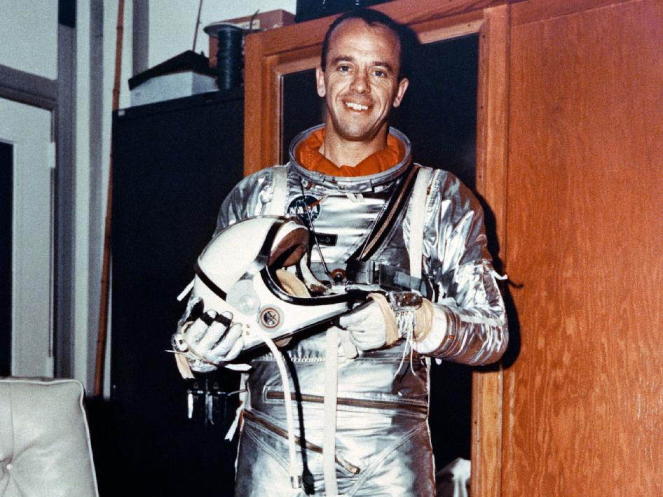 Alan Shepard in Mercury Flight Suit