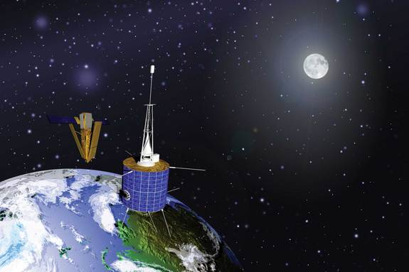 On Feb. 10, 2009, a defunct Russian satellite, right, and a privately owned American communications satellite, left, collided near the North Pole, producing clouds of debris that quickly joined the orbital parade of clutter, increasing the possibility of future accidents.