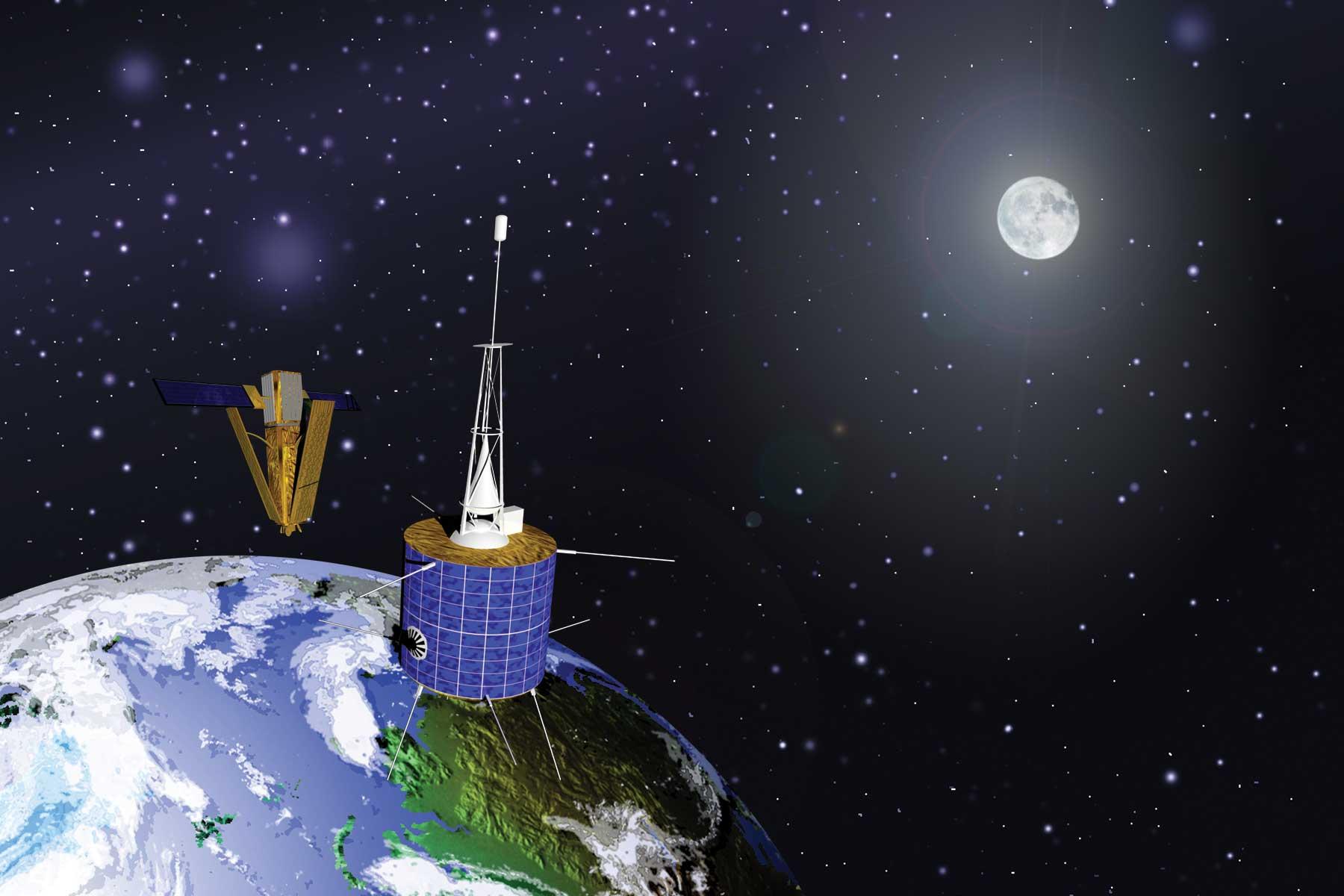 Artist's illustration of February 2009 Satellite Crash