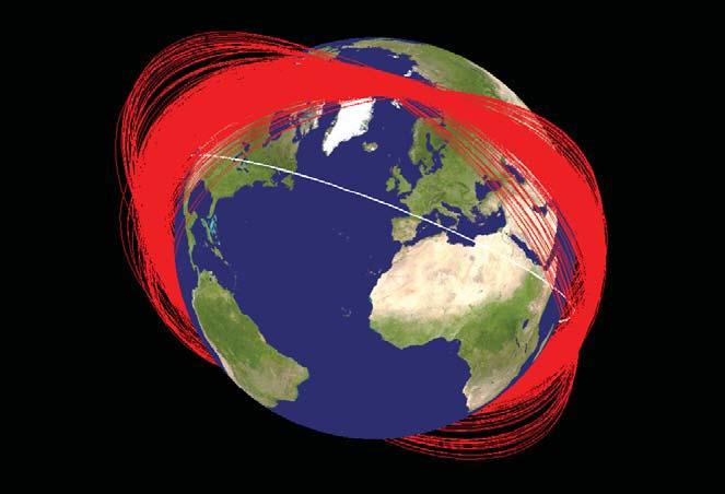 China Anti-Satellite Debris Paths
