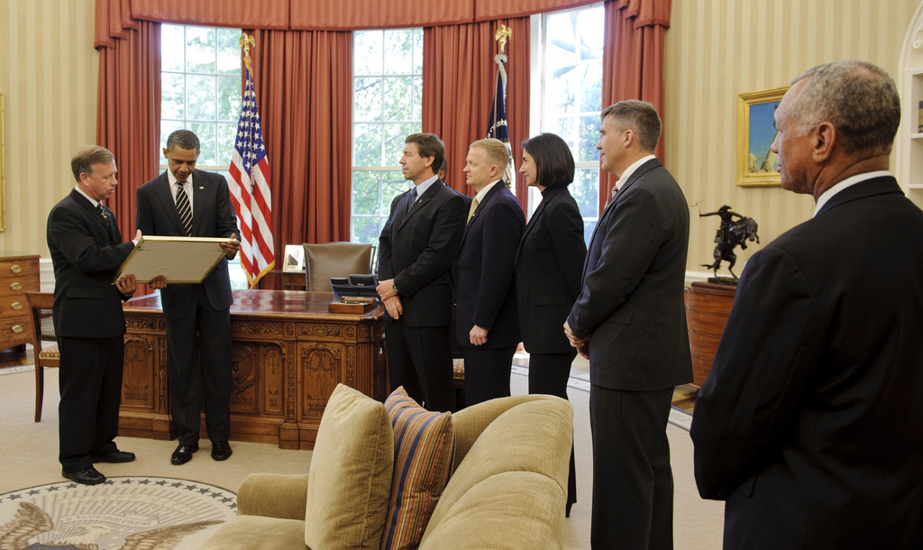 STS-133 Crew Meets with President Obama
