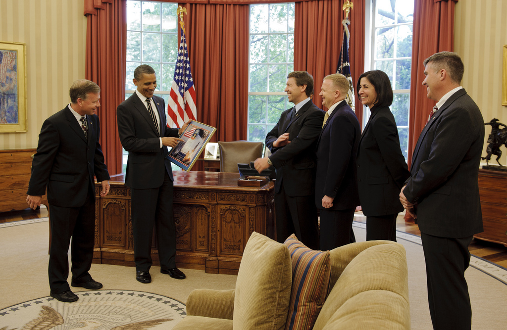 STS-133 Crew Presents a Montage to President Obama