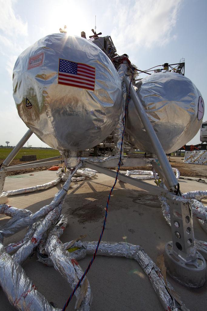 NASA Robot Moon Lander Test Sparks Grass Fire