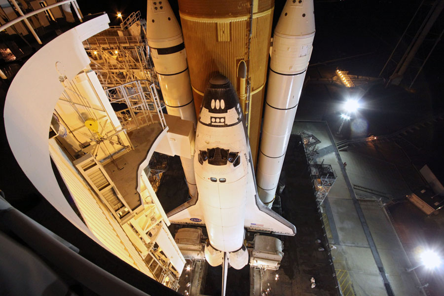 Shuttle Endeavour on the Launch Pad