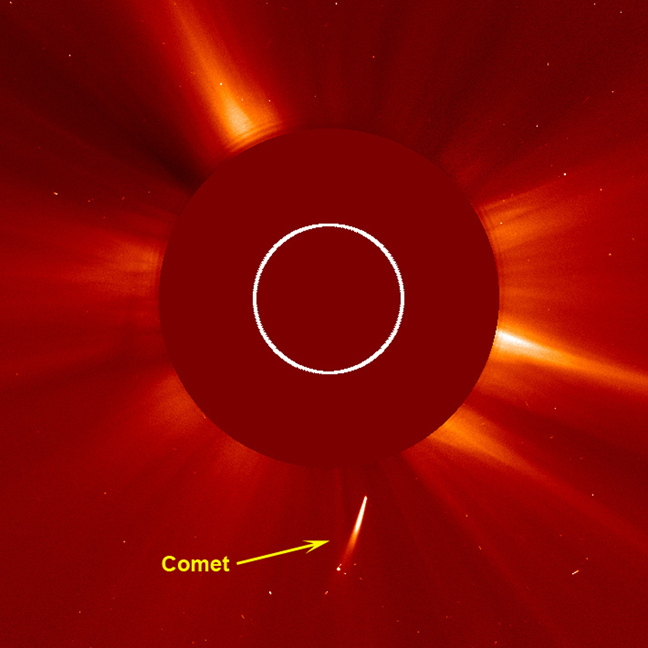 Comet Dive-Bombs Sun During Big Solar Eruption