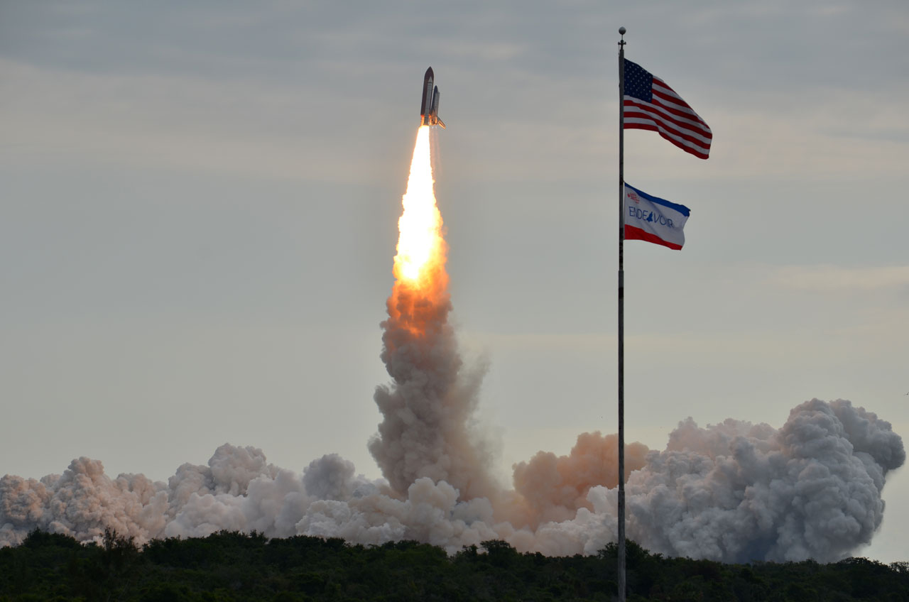 Endeavour Soars Into Space on STS-134 Mission