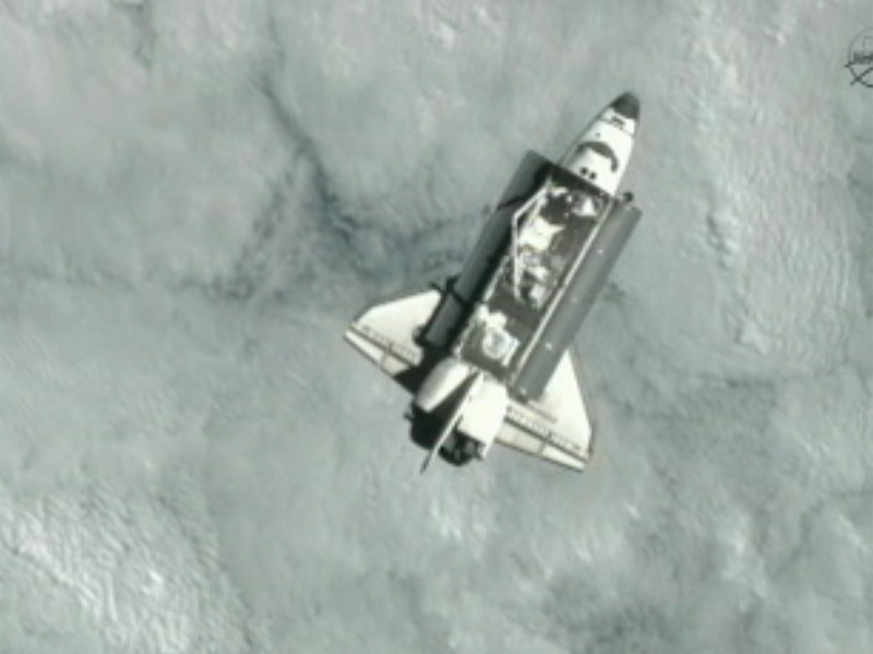 Shuttle Endeavour Approaches the International Space Station - STS-134