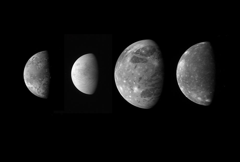 Jupiter's Moons: Family Portrait