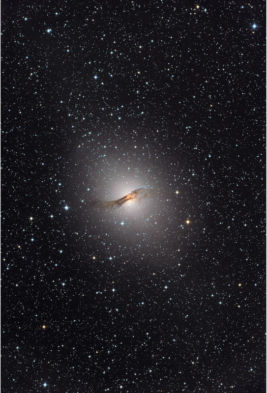 NGC 5128 Seen in Visible Light