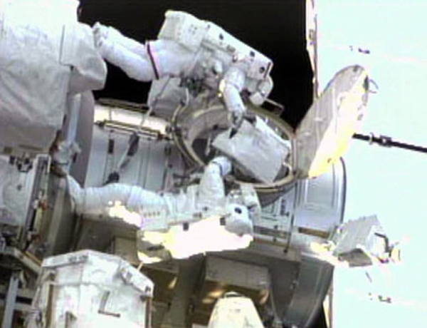 Shuttle Crew Tackles Second Spacewalk at Space Station