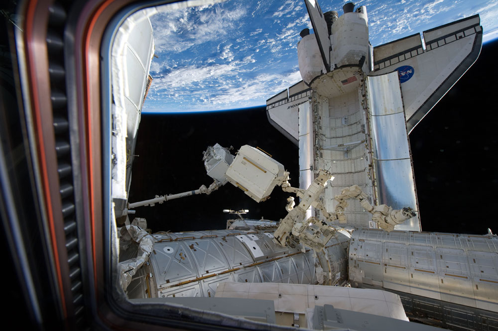 In the Grasp of the Canadarm2