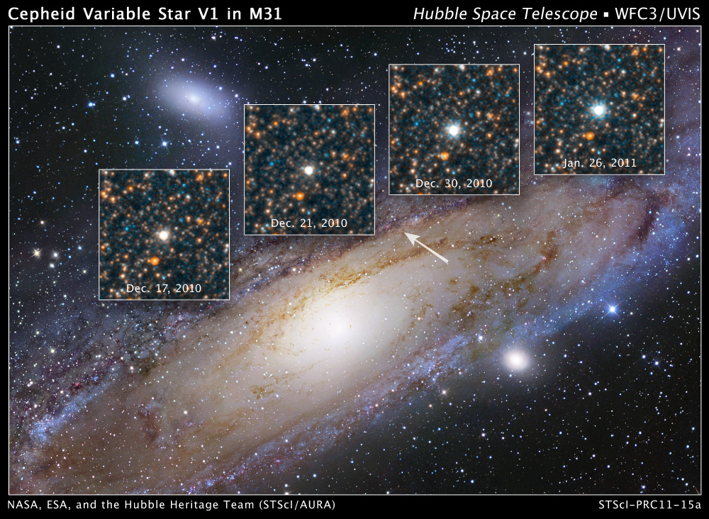 Star That Changed the Universe Shines in Hubble Photo