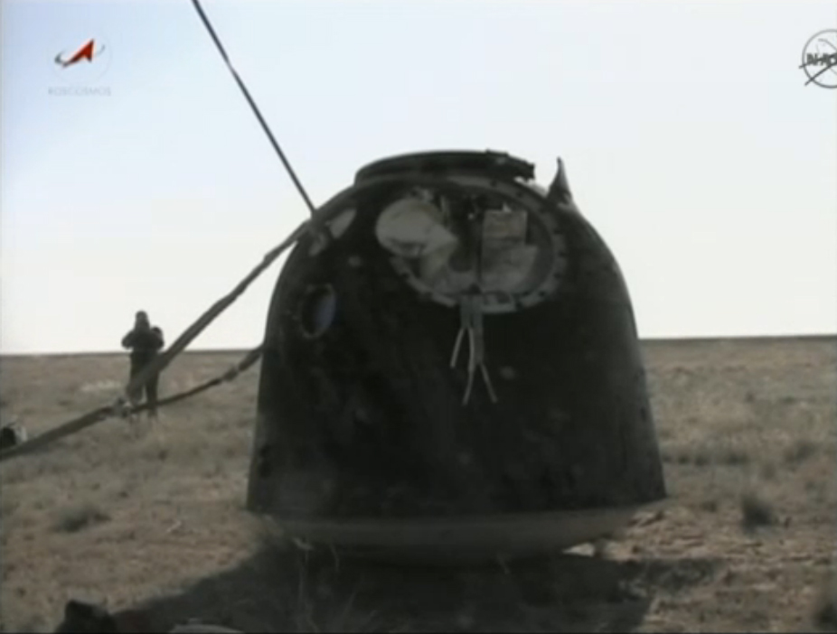 Soyuz Capsule Lands Safely With Space Station Crew