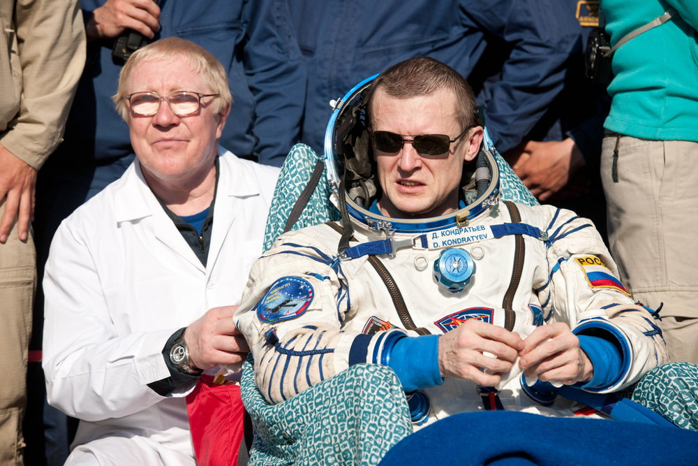 Expedition 27 Commander Dmitry Kondratyev Post-Landing