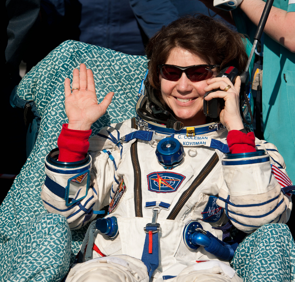 Expedition 27 Flight Engineer Cady Coleman Post-Landing