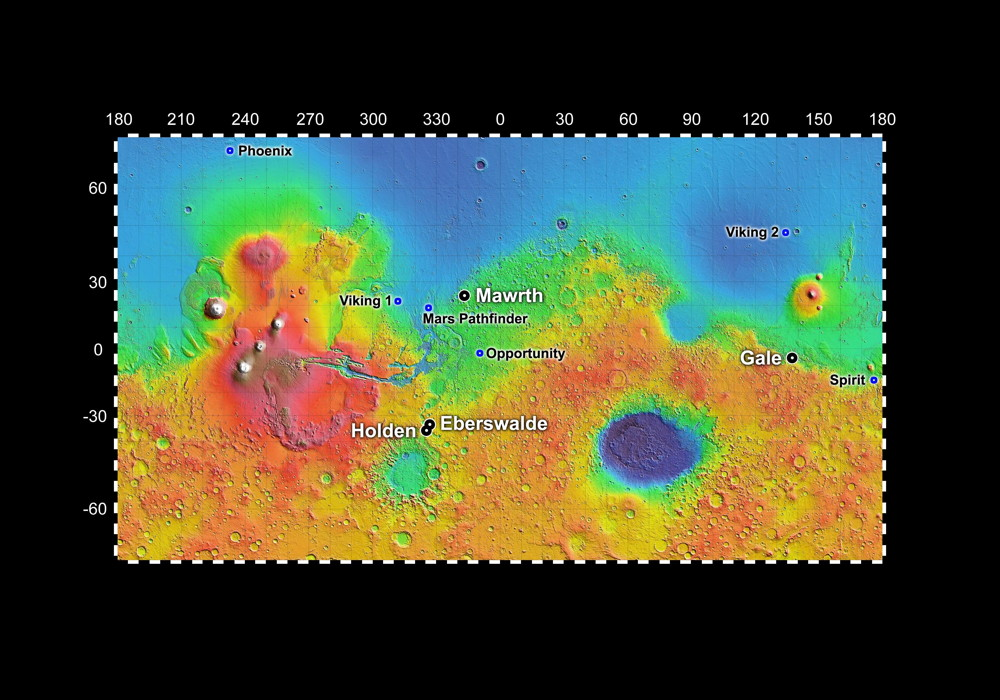 NASA Narrows Next Mars Rover's Landing Site to Two Choices