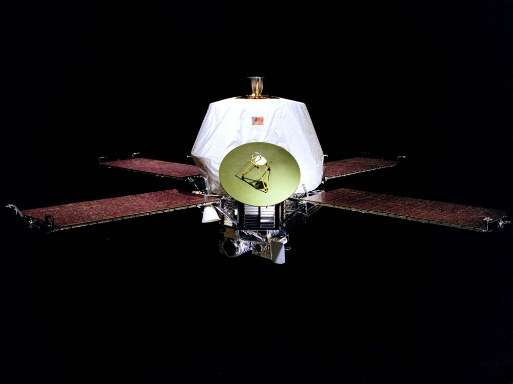 The Mariner 9 spacecraft.
