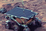 NASA's 25-pound Sojourner Mars rover covered about 330 feet (100 meters) over 83 days on the Red Planet in 1997.
