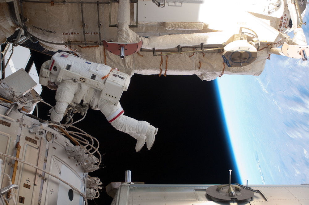 Feustel Spacewalking