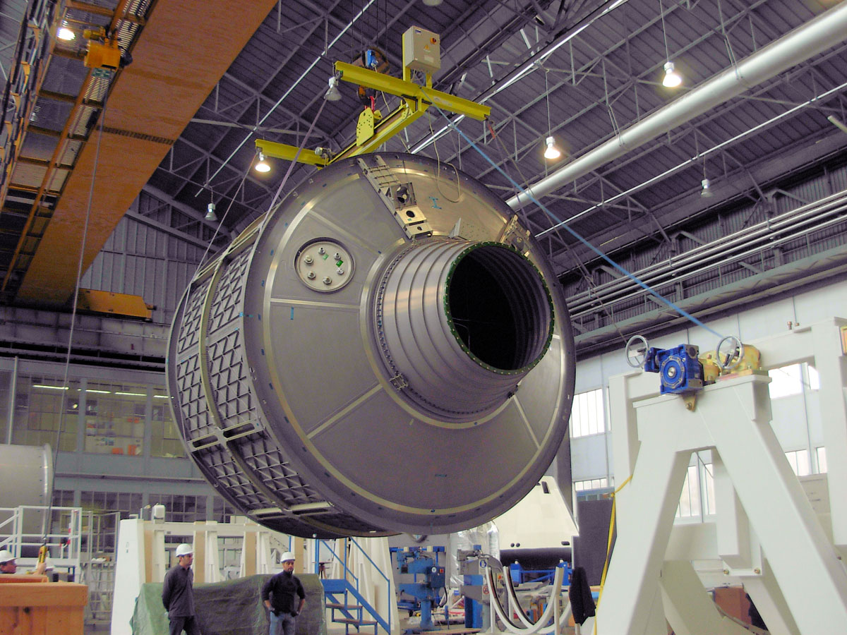 Albert Einstein ATV-4 Spacecraft Coming Together