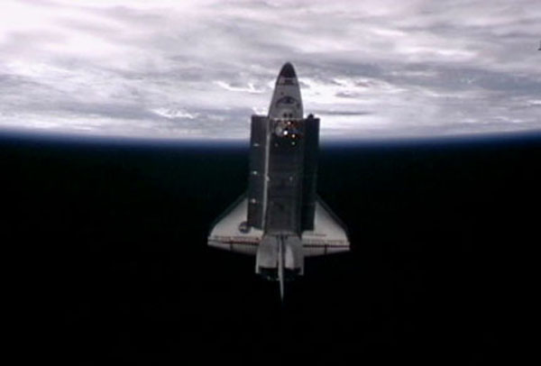 Shuttle Endeavour Leaves Space Station