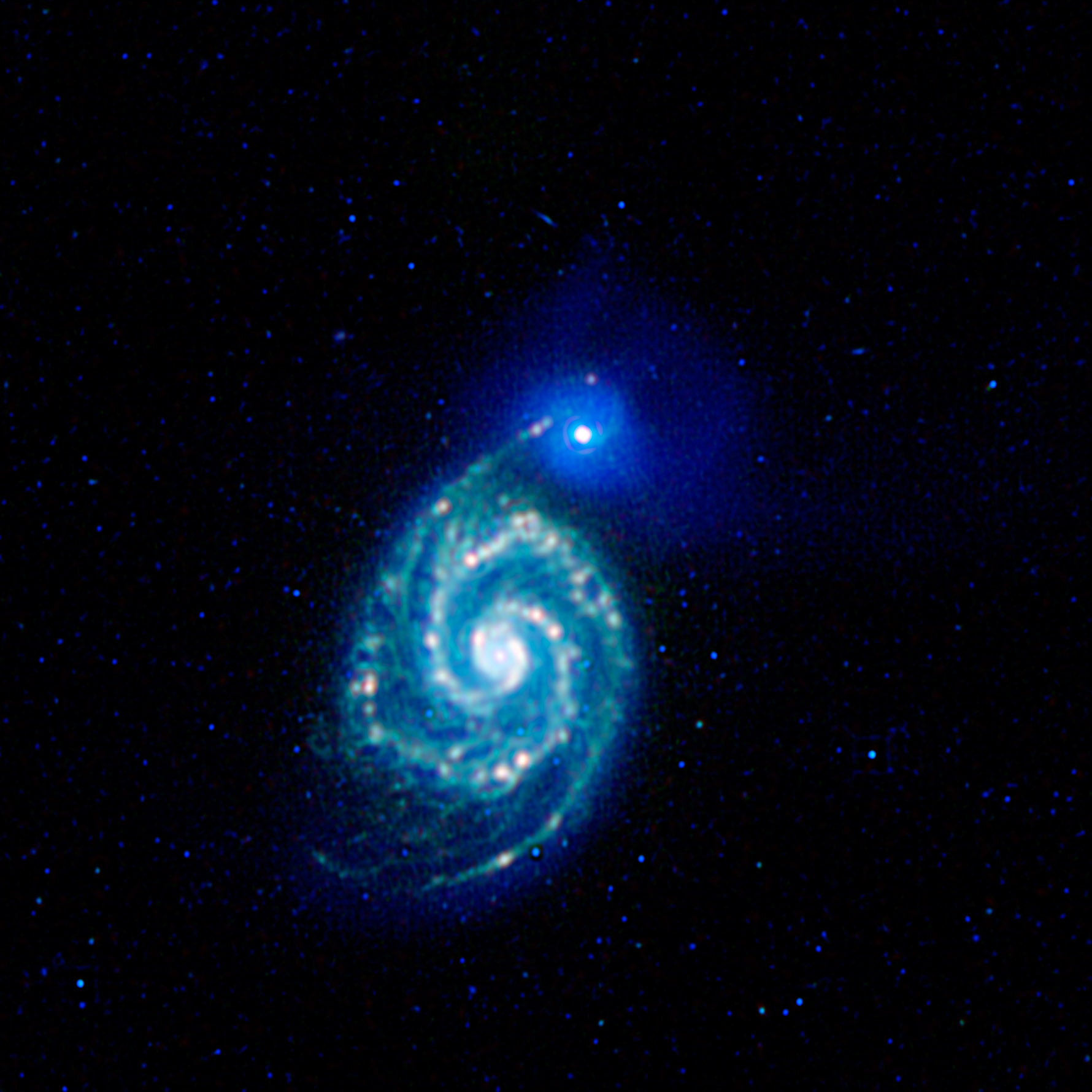 The Whirlpool Galaxy, or Messier 51 (M51)