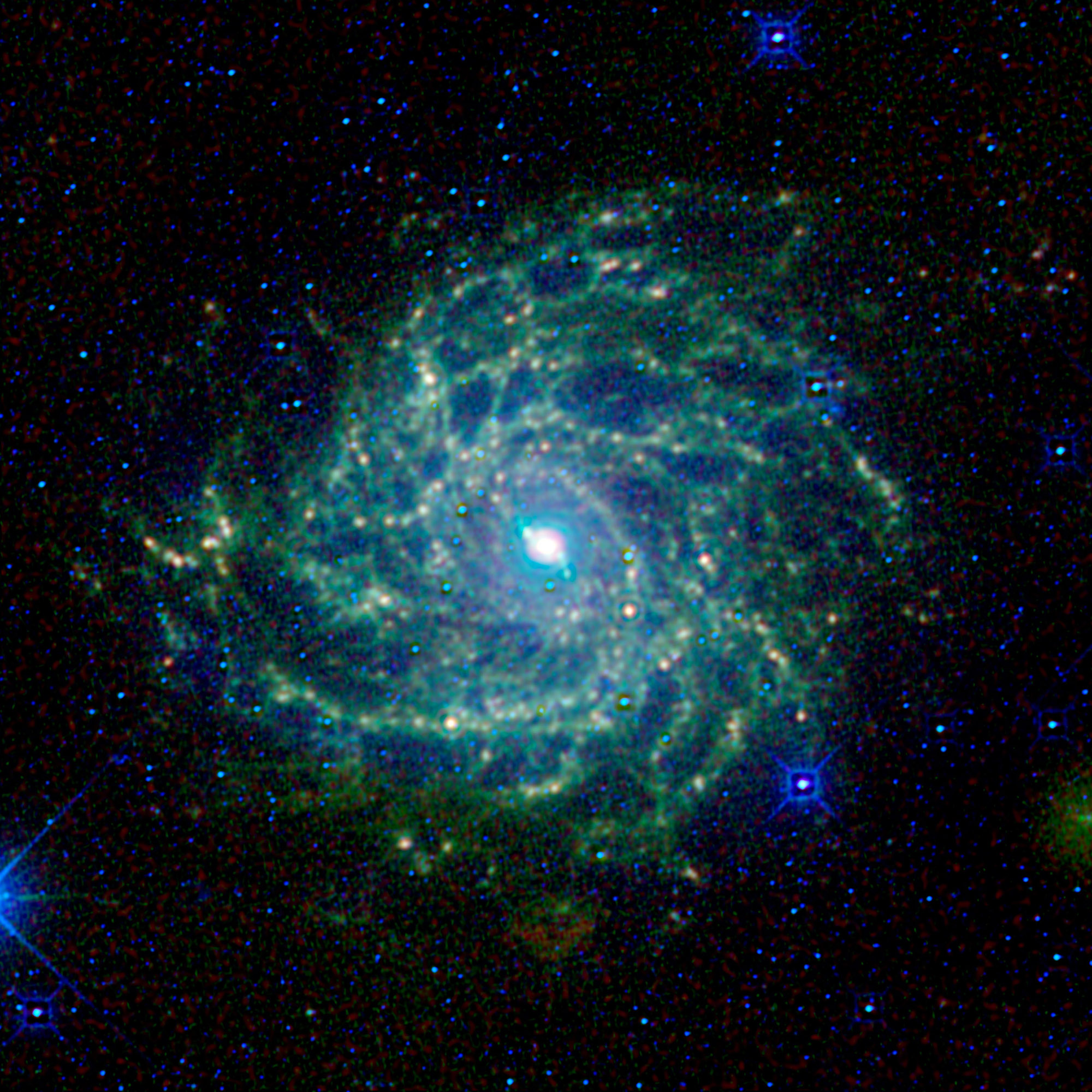 Sometimes called the Hidden Galaxy, this spiral beauty is shrouded behind our own galaxy, the Milky Way.