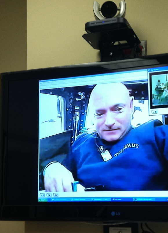 Mark Kelly Videochats with His Wife