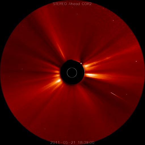 Comet Plows into Sun After Big Solar Storm