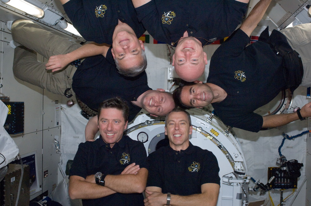 Endeavour Crew Aboard the ISS