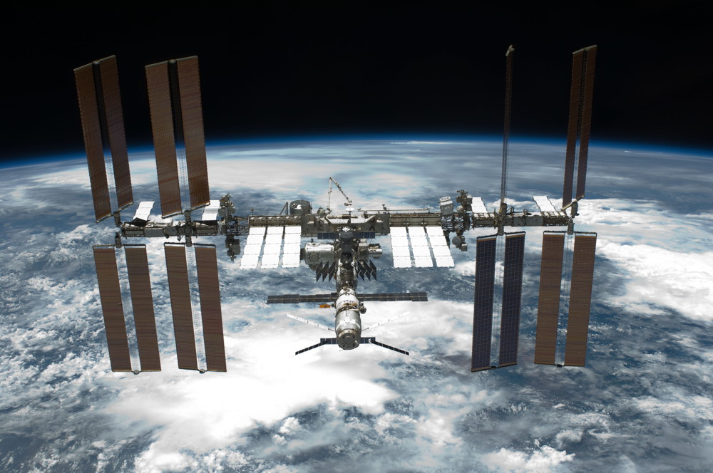 The International Space Station After Endeavour Undocking