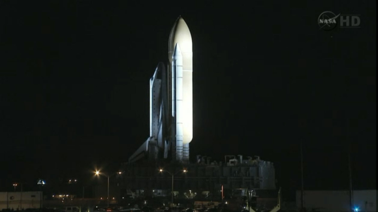 Shuttle Atlantis' Final Rollout