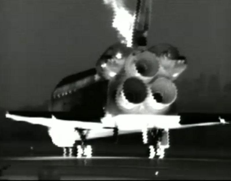 Shuttle Endeavour Landing