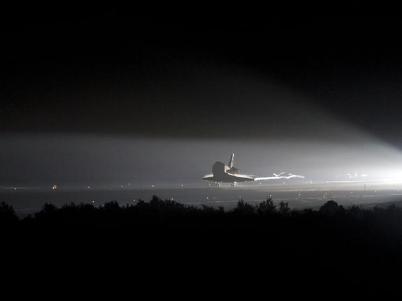 <b>Wednesday, June 1, 2011</b>: Space shuttle Endeavour made its final landing at Kennedy Space Center, Wednesday, June 1, 2011, in Cape Canaveral, Fla. Endeavour spent 16 days in space on the STS-134 mission outfitting the International Space Station. During 25 flights, Endeavour spent 299 days in space, and traveled more than 122.8 million miles. It first launched on May 7, 1992.<br><br>—Tom Chao