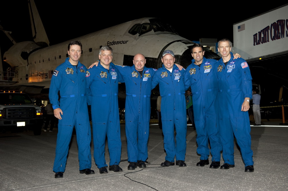 Endeavour Crew Gathers on the Runway