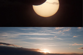 "Photographer and skywatcher Bernt Olsen snapped this view of the partial solar eclipse of June 1-2, 2011 just during the ""midnight sun"" in Tromso, Norway. The partial solar eclipse was dubbed a ""midnight"" eclipse as its viewing path crossed the International Date Line across far northern latitudes."