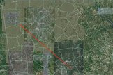 Ground track of meteor's path on May 20, 2011 over Macon, Georgia.