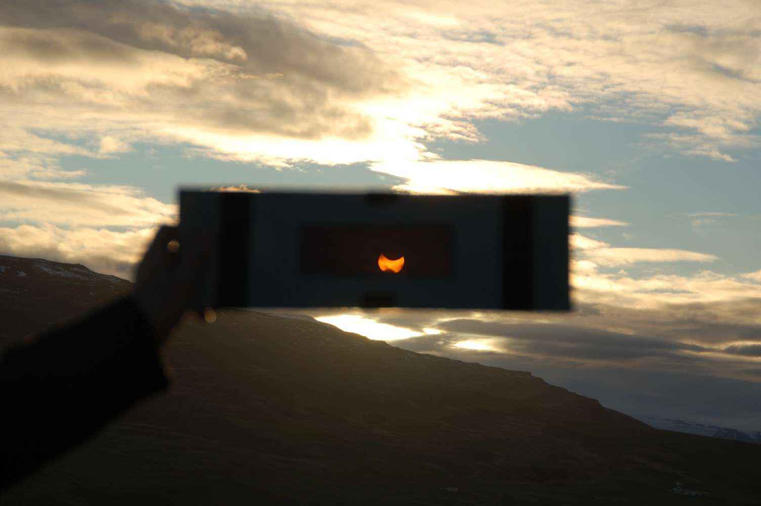 Midnight sun from Iceland