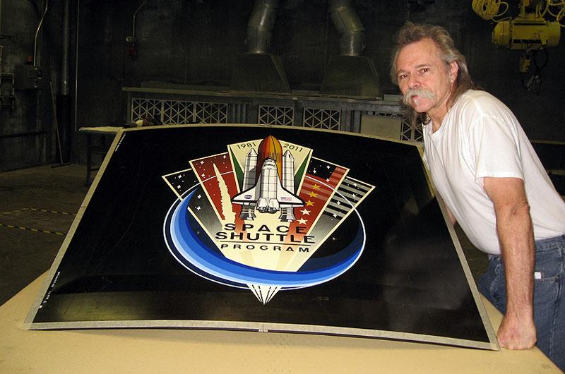 Shuttle Atlantis' Fuel Tank Nose Art