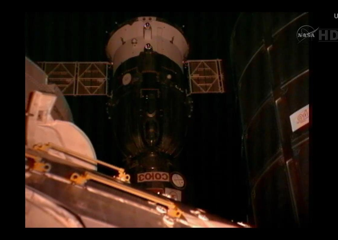 Soyuz Capsule Arrives at Space Station with New Crew