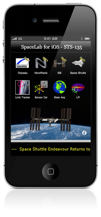 iPhone with SpaceLab Software