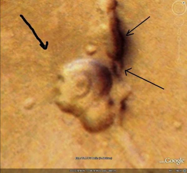 Gandhi face on Mars