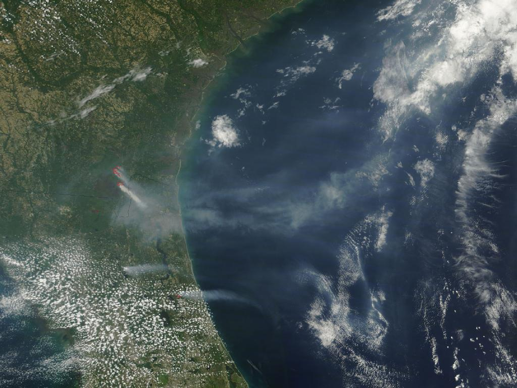 The Honey Praire Complex fires in Georgia and Florida