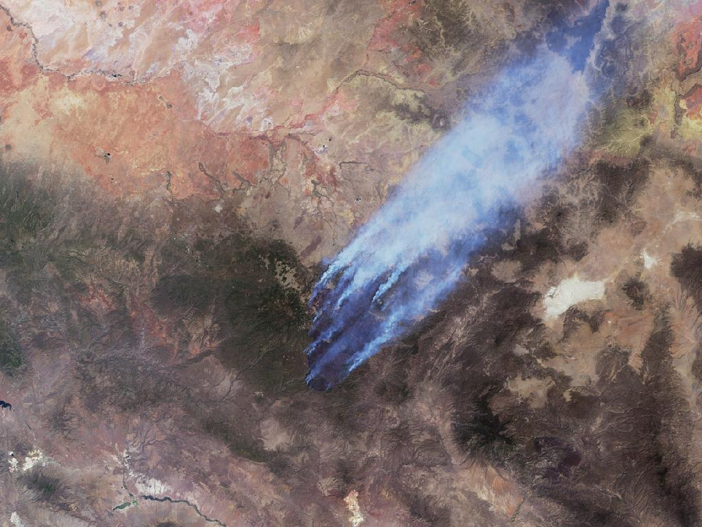 NASA's MISR Instrument Sees Wildfires Burn Out of Control