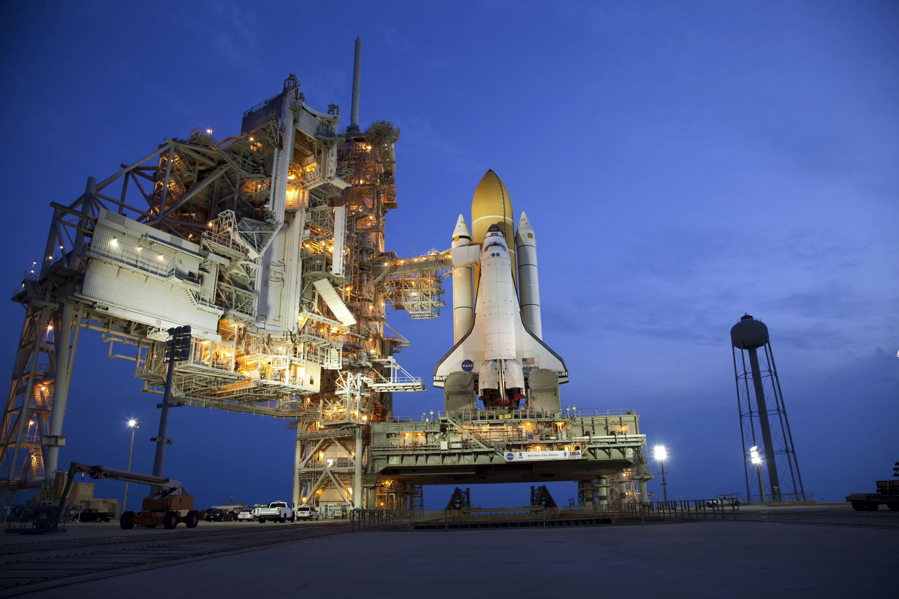 Space Shuttle Atlantis at the Launch Pad - STS-135